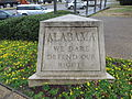 State Motto Marker at Alabama Welcome Center, Cleburne County AL.jpg