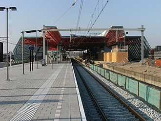 Lelystad Centrum railway station - Image: Station Lelystad platform