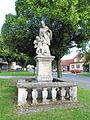 Statue of John of Nepomuk in Rouchovany, Třebíč District.JPG