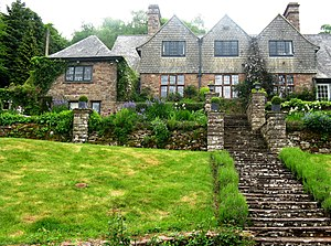 Henry Avray Tipping - Tipping's house and garden at High Glanau, near Monmouth