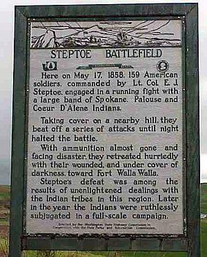 Edward Steptoe - Marker at the Steptoe Battlefield near Rosalia, Washington