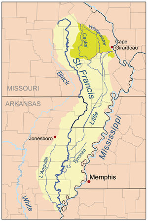 Missouri Map With Rivers.St Francis River Wikipedia