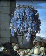Still Life with Grapes and Other Fruits by Luca Forte, Getty Center.JPG