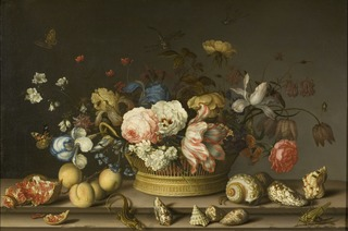 Still Life with a Basket of Flowers