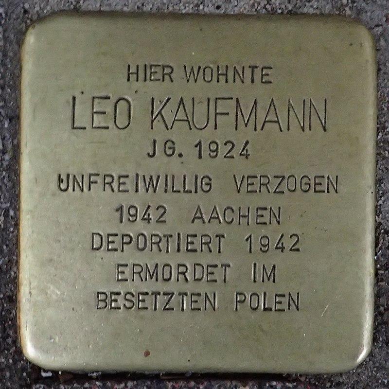 Stolperstein für Leo Kaufmann