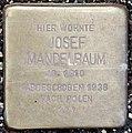 Stolperstein Remscheid Palmstraße 10 Josef Mandelbaum.jpg
