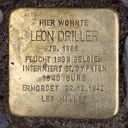 Photo of Leon Driller brass plaque