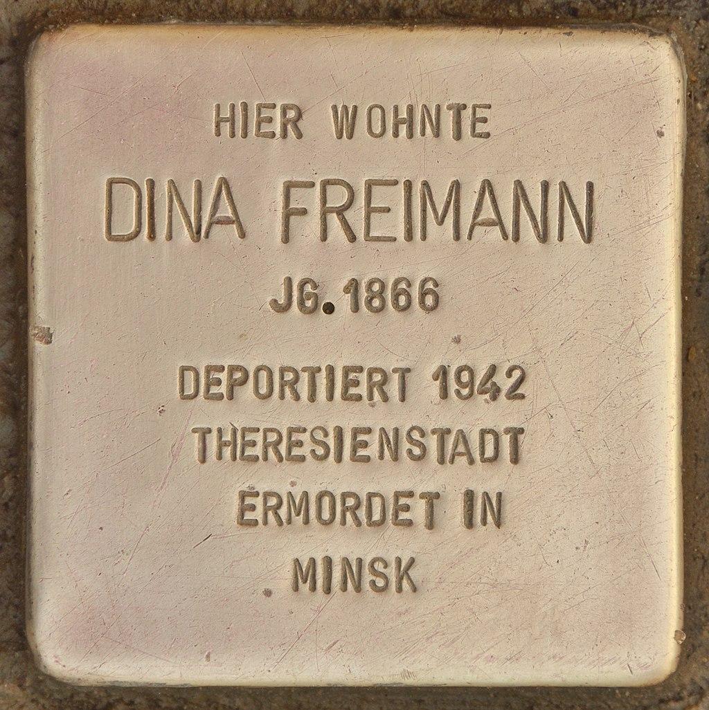 Stolperstein für Dina Freimann (Schnaittach).jpg