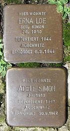 Stolpersteine für Erna Loe und Adele Simon