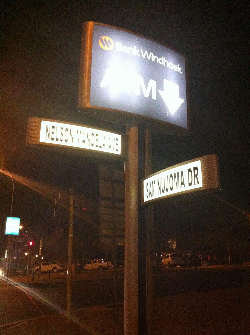 Street Signs in Windhoek Namibia (President%C2%B4s Corner).jpg