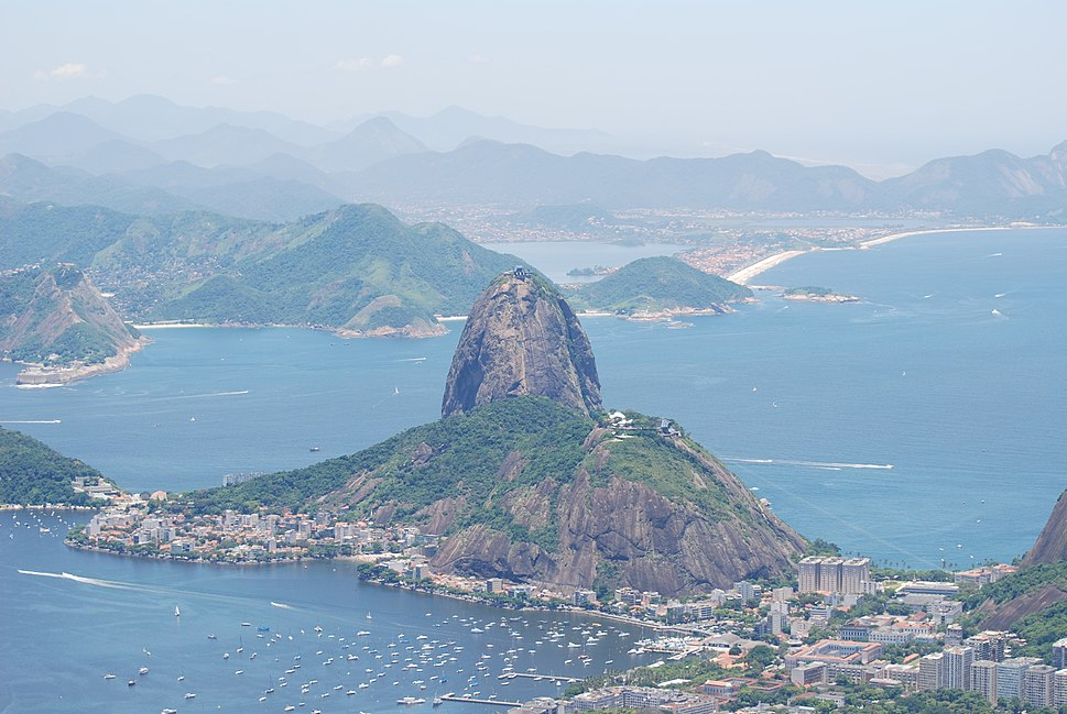 Sugarloaf Mountain as seen from Corcovado
