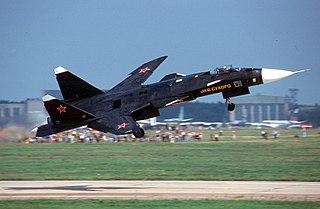 Sukhoi Su-47 Experimental fighter aircraft
