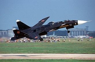Forward-swept wing - Forward-swept wing of Sukhoi Su-47