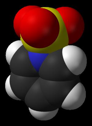 Sulfur trioxide pyridine complex - Image: Sulfur trioxide pyridine complex 3D vd W