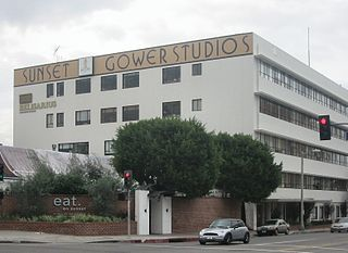 Sunset Gower Studios television and movie studio at the corner of Sunset Boulevard and Gower Street in Hollywood, Los Angeles, California