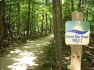 Peninsula State Park - Sunset Bike Route