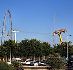 Superland Skycoaster and Pirate ship.JPG