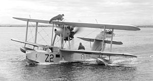 Supermarine Walrus - Supermarine Walrus I, serial number K5783, from the first production batch. Photo taken between 1937 and 1939.