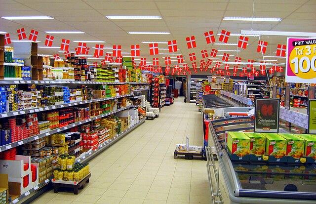 Дания занимает первое место в Европе по дороговизне потребительских товаров и услуг