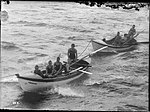 Surf life boats being towed, possibly NORTH STEYNE and CURL CURL (7397539730).jpg