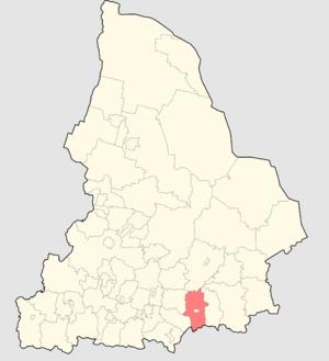 Kamyshlovsky District - Image: Sverdlovsaya oblast ATD 2006 Kamyshlovsky rayon