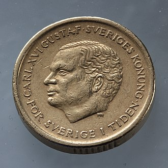 Swedish krona - Image: Swedish 10 crown coin front side