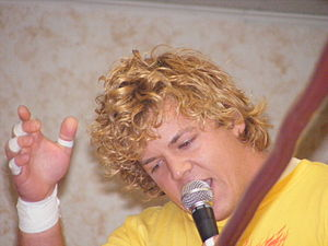 Larry Sweeney - Sweeney cutting a promo in 2008.