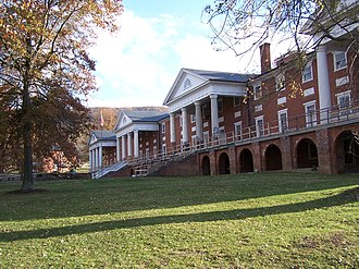 Monroe County, West Virginia - Image: Sweet Springs Resort Main Building