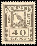 Switzerland Courrendlin 1901 revenue 40c - 4C.jpg