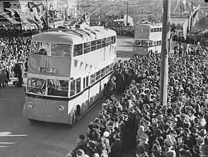 Trolleybuses in Sydney - Opening of the Kogarah network on 3 July 1937