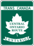 Trans-Canada Highway Central Ontario Route shield