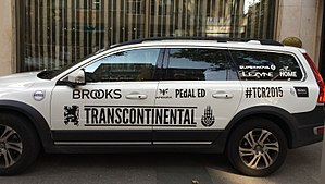 Transcontinental Race - Volvo race vehicle for the 2015 TCR