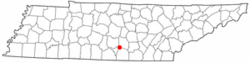 Location of Tullahoma, Tennessee