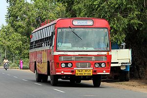 Kanchipuram - An intercity state bus to Kanchipuram
