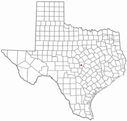 Location of Burnet within Burnet County, Texas.