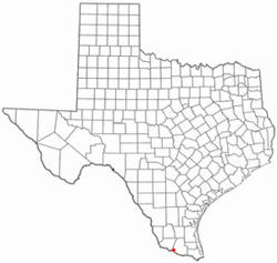Location of Los Ebanos, Texas