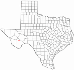 Location of Marathon, Texas