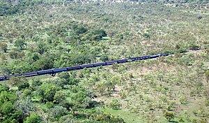 TAZARA Railway - Tazara locomotive passing through the Selous Game Reserve