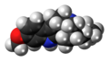 Tabernanthine molecule spacefill.png