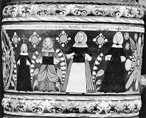 Creußen - Creußen painted stoneware beer stein of 1675 from the Metropolitan Museum of Art