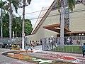 Tapete de Corpus Christi 2015 da Paróquia São Sebastião em frente à Catedral de São Sebastião, Coronel Fabriciano MG.JPG