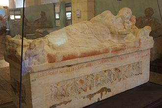 Monterozzi necropolis - Painted Etruscan Sarcofagus from a tomb