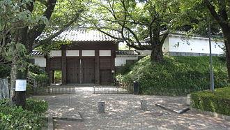 Tatebayashi Domain - remaining gate of Tatebayashi Castle, administrative center of Tatebayashi Domain