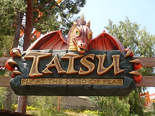 Tatsu Flying roller coaster at Six Flags Magic Mountain
