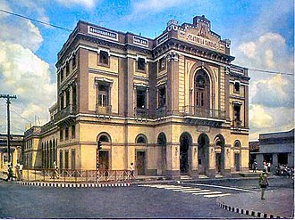 Teatro La Caridad - Back in the 1970s with a more colorful facade and when streets around were open to transit.