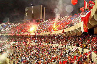 Football in Libya - Al-Ittihad fans during a Champions League game in 2007
