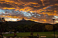 Telstra tower sunset over black mountain, Canberra.jpg