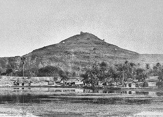 Sasaram - Image: Terminal spur of the Kimur Range, near the top of which is the Sasaram Asoka Edict