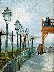 Terrace and Observation Deck at the Moulin de Blute-Fin 1887 van Gogh - Pimbrils.jpg