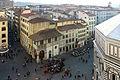Terrazze del duomo, vedute su piazza san giovanni, loggia del bigallo.JPG